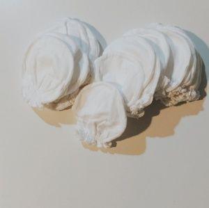 White baby mittens 12 pairs